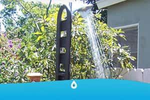 montaggio di una doccia esterna