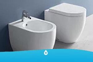 Sanitari da bagno: vaso wc e bidet