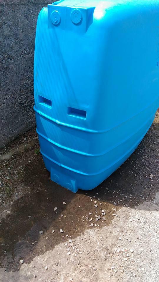 cisterna in polietilene bucata