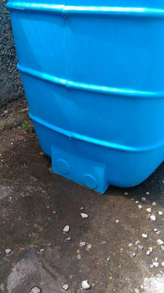 cisterna in pvc perde
