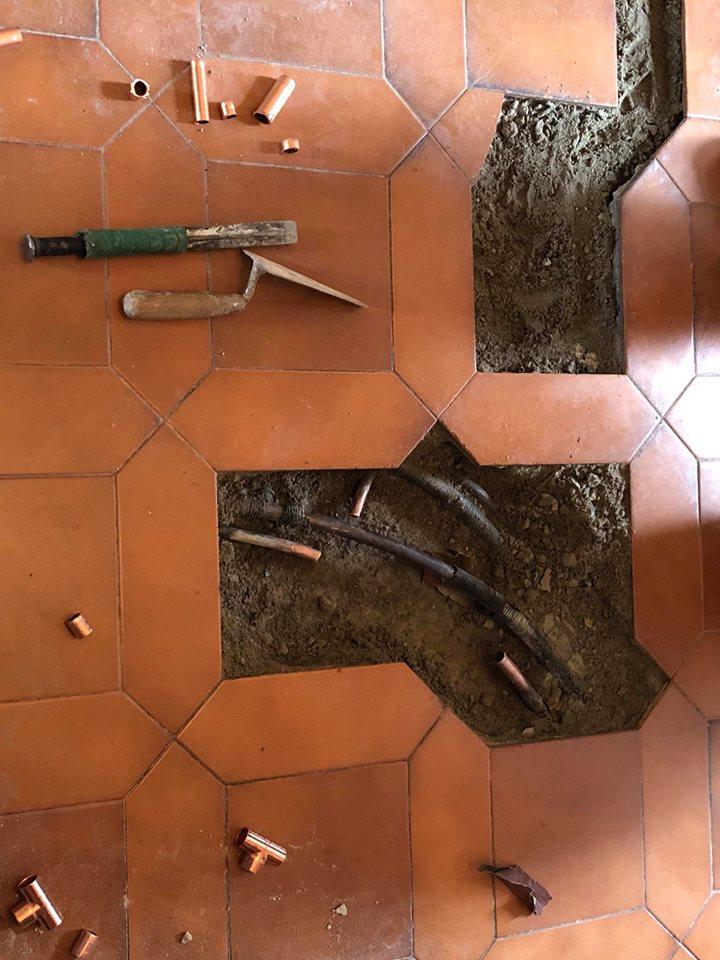 tubi pavimento