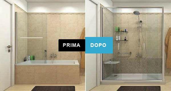 Da vasca a doccia: come avviene la trasformazione