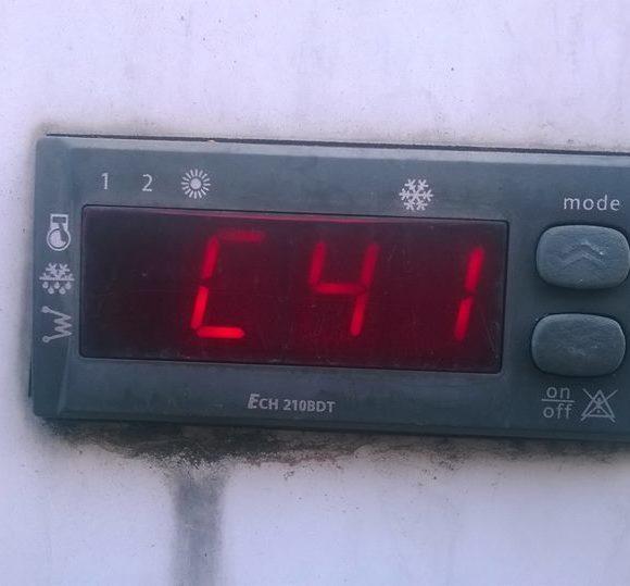 Errore C41 su climatizzatore aria acqua unità esterna ARGO