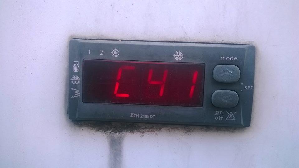 codice errore c41 climatizzatore