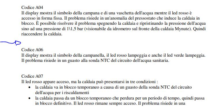 errore e05 caldaia beretta libretto istruzioni