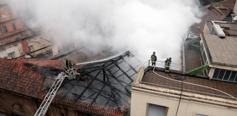 Pulizie dopo incendio